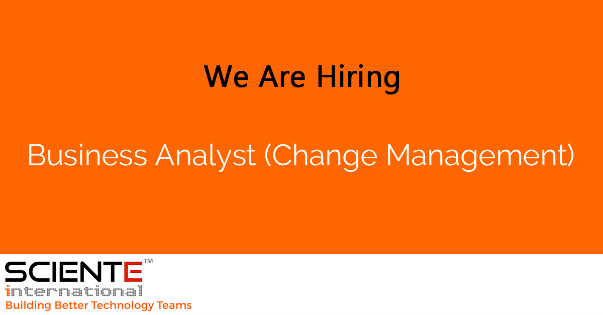 Business Analyst (Change Management)