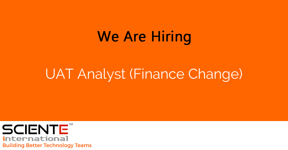 UAT Analyst (Finance Change)