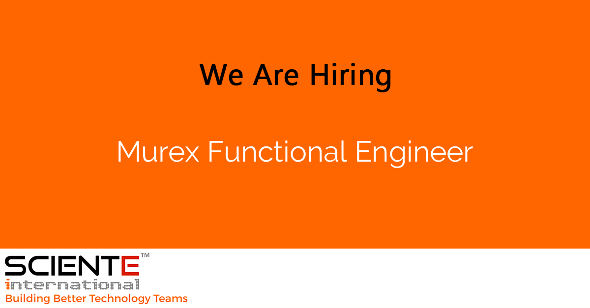 Murex Functional Engineer