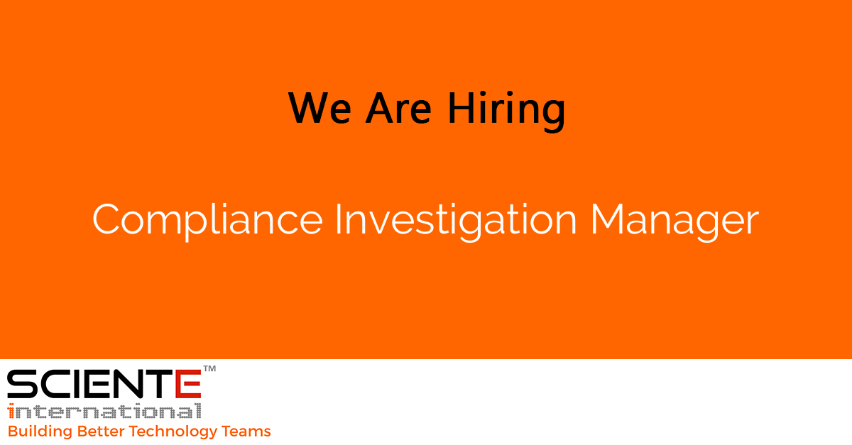 Compliance Investigation Manager