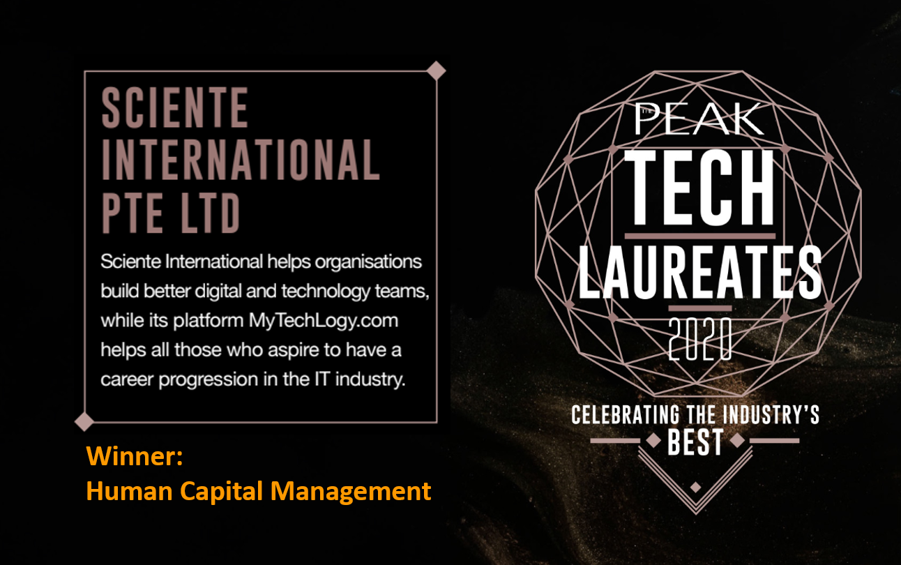 Sciente International is awarded The Peak Tech Laureates 2020 Award under Human Capital Management category