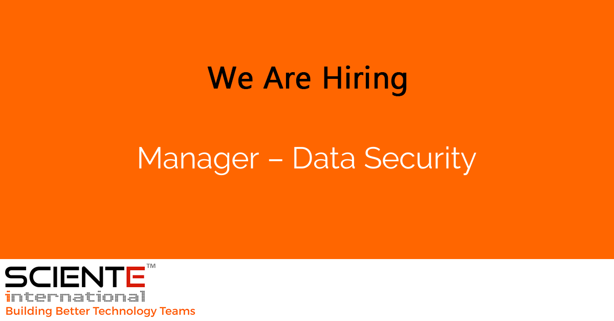 Manager – Data Security