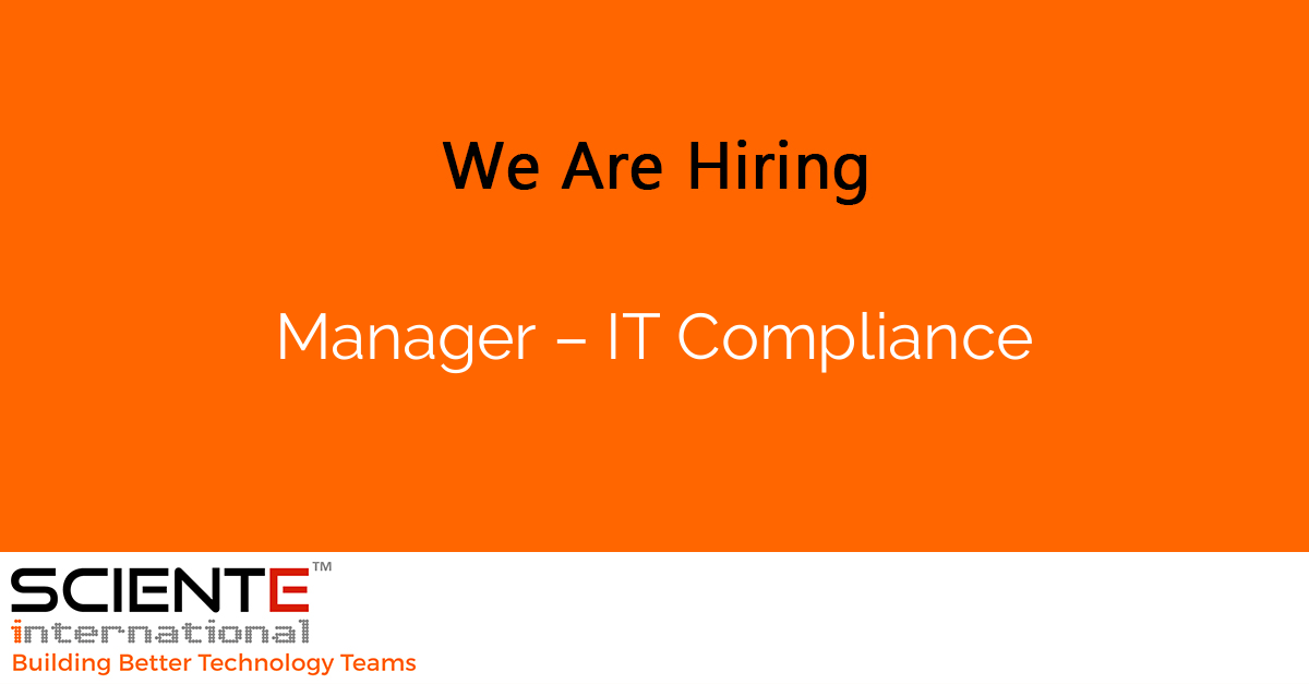 Manager – IT Compliance