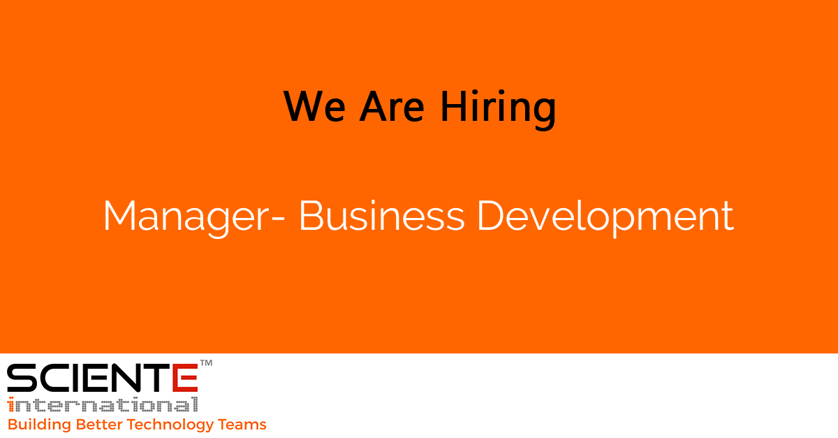 Manager- Business Development