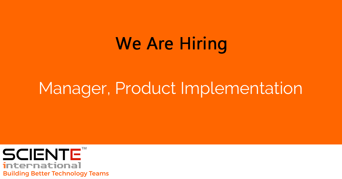 Manager, Product Implementation