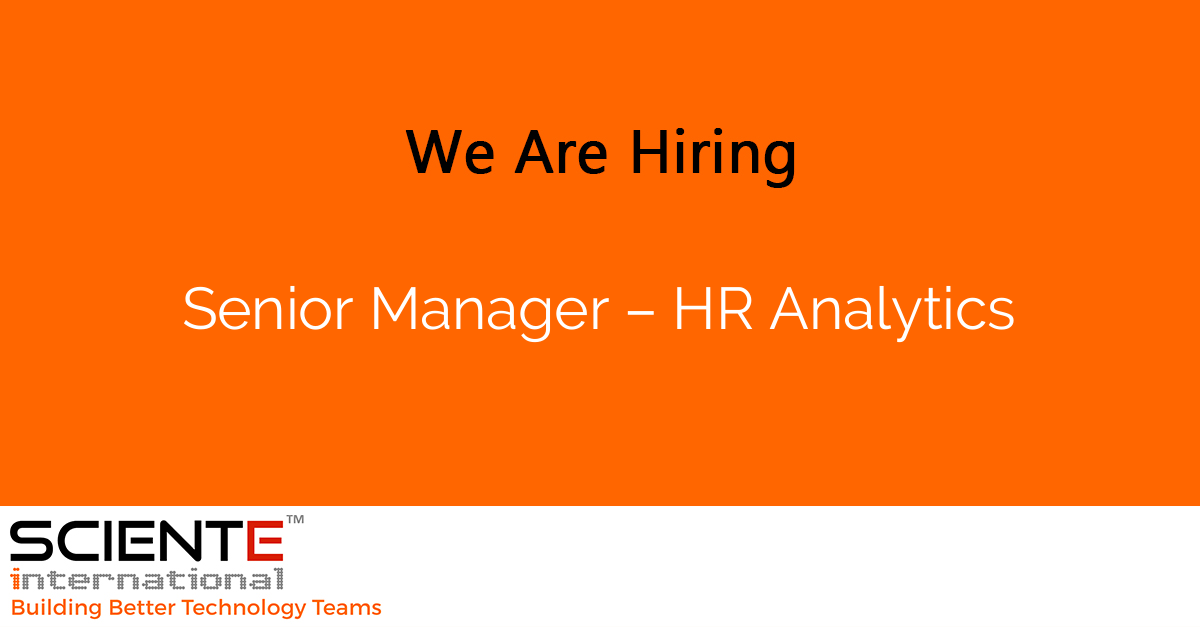 Senior Manager – HR Analytics