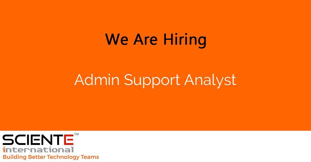 Admin Support Analyst