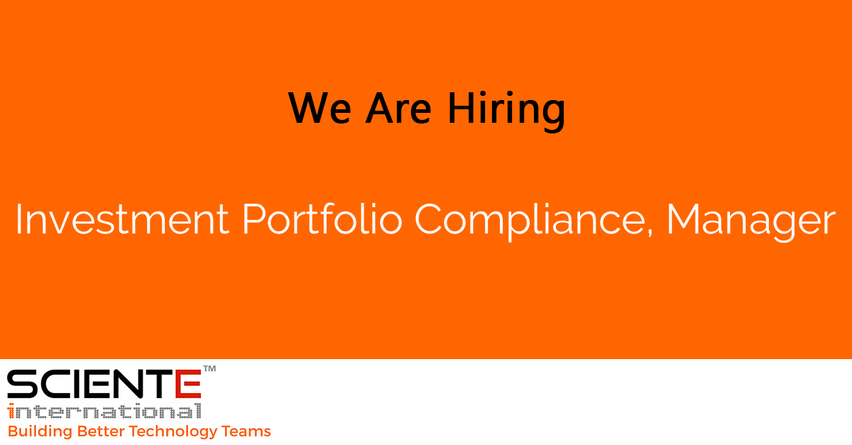Investment Portfolio Compliance, Manager