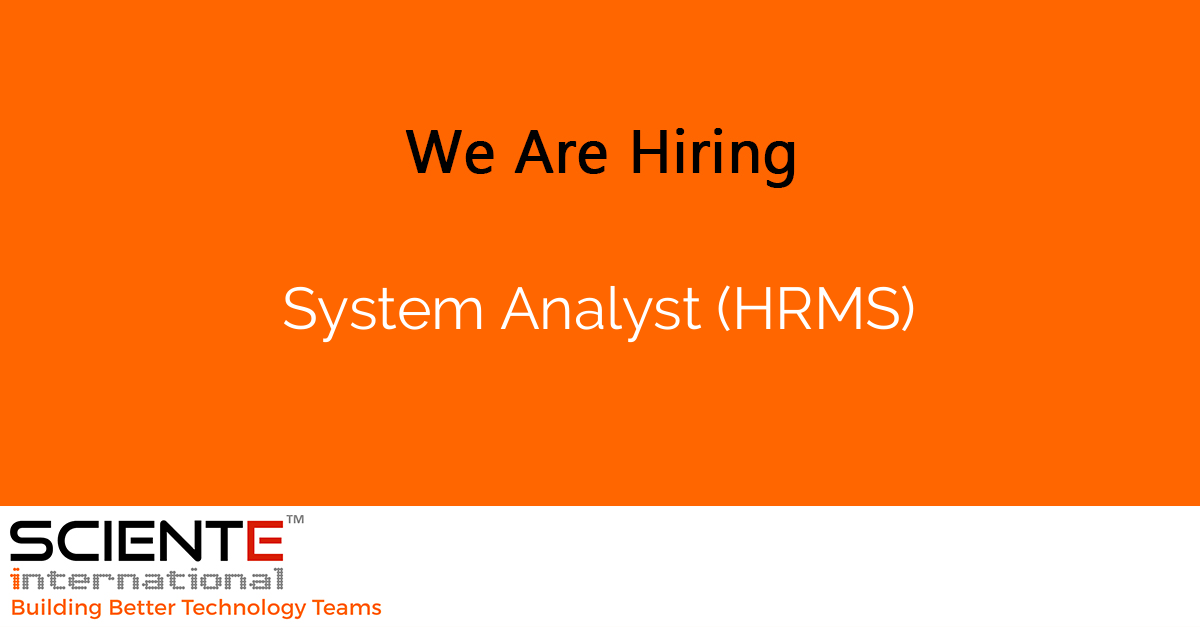 System Analyst (HRMS)