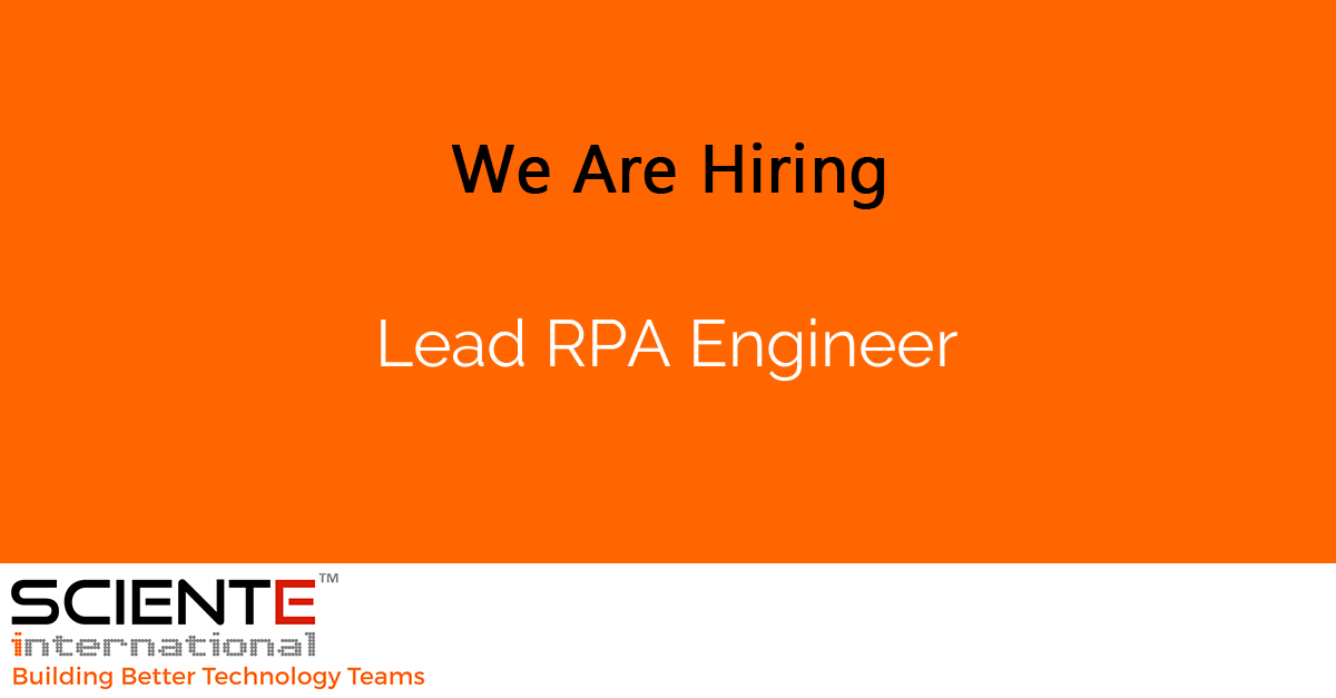Lead RPA Engineer