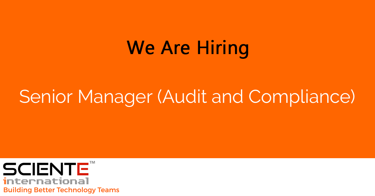 Senior Manager (Audit and Compliance)