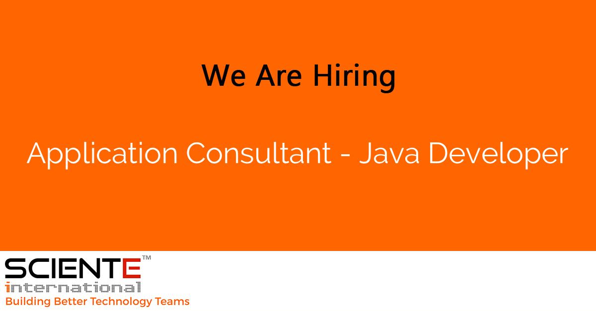 Application Consultant - Java Developer