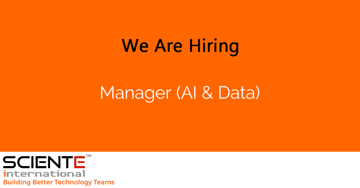 Manager (AI & Data)