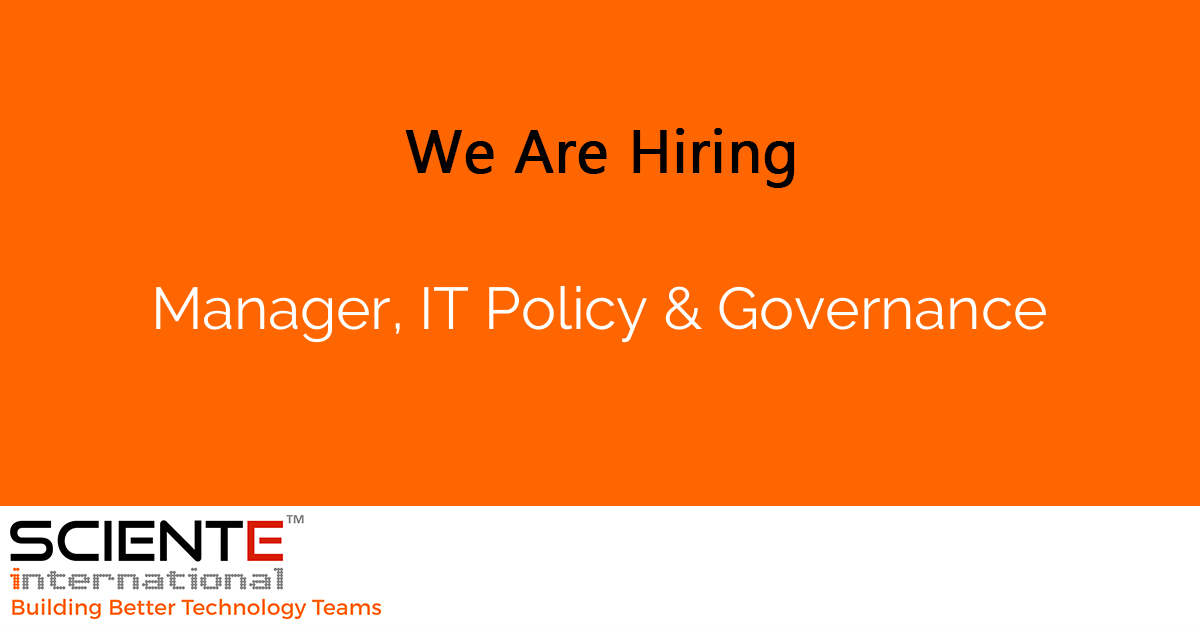 Manager, IT Policy & Governance