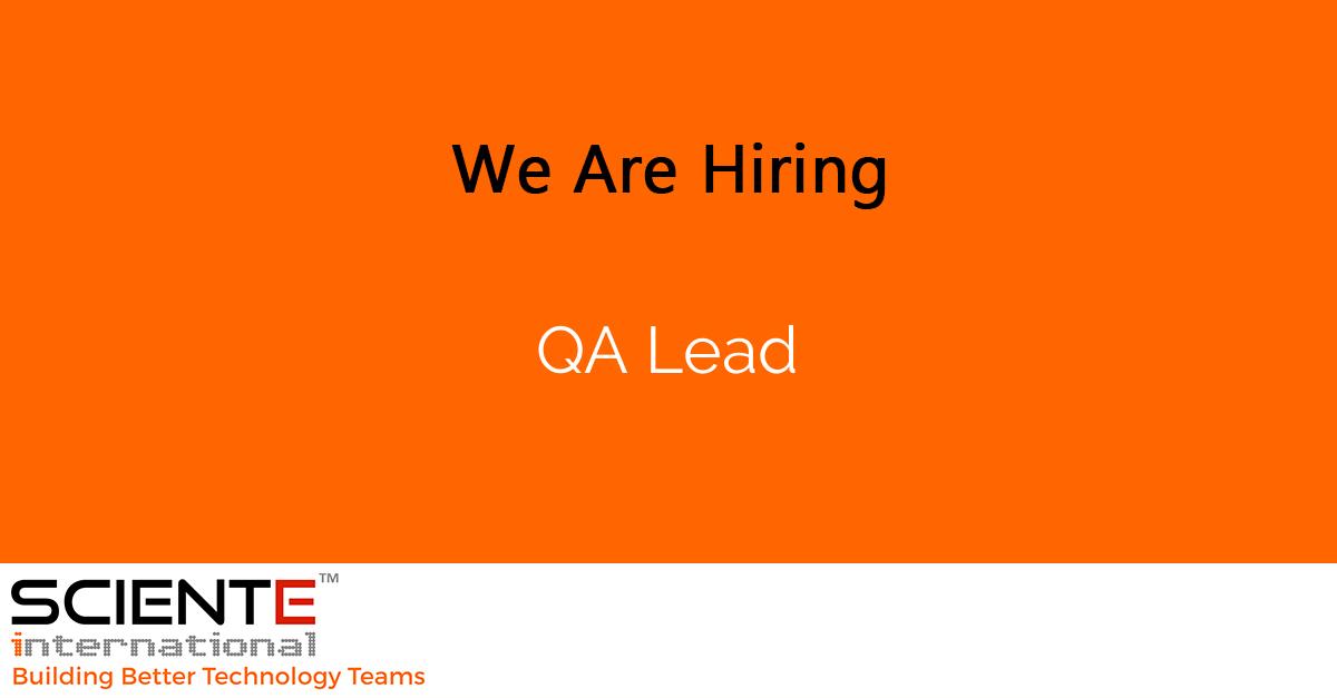 QA Lead
