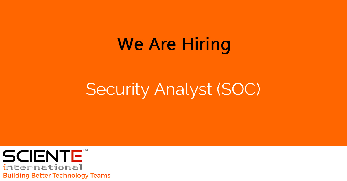 Security Analyst (SOC)