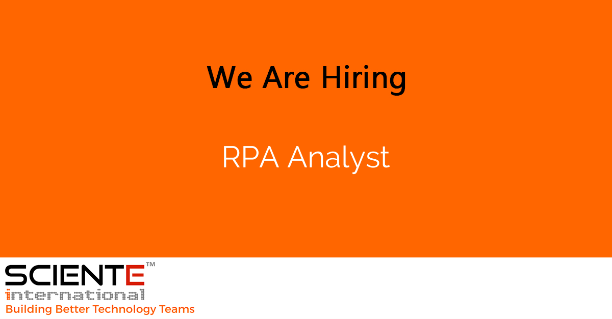RPA Analyst