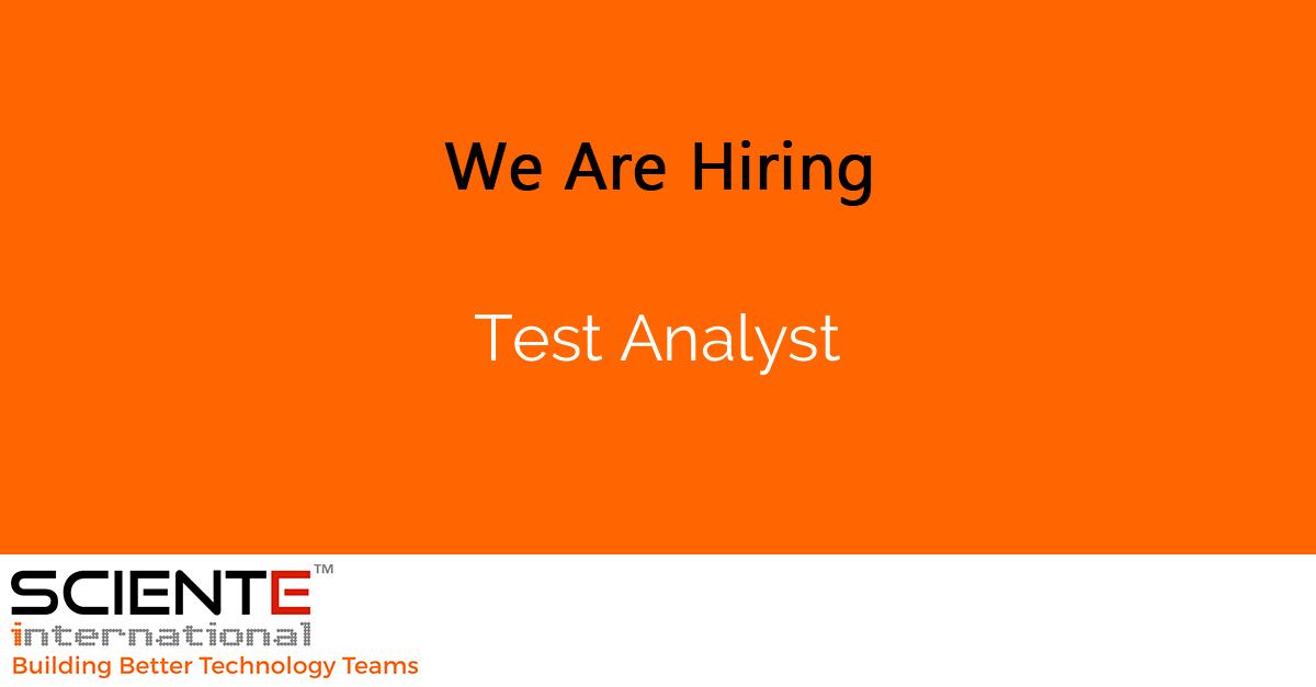 Test Analyst