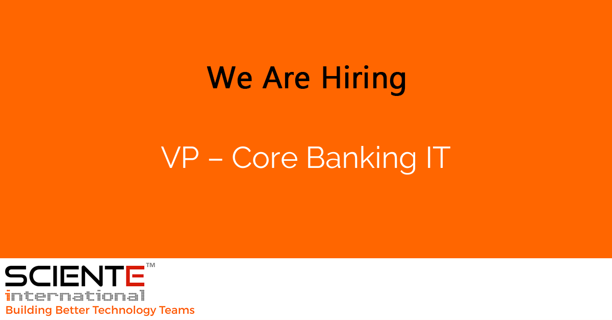 VP – Core Banking IT