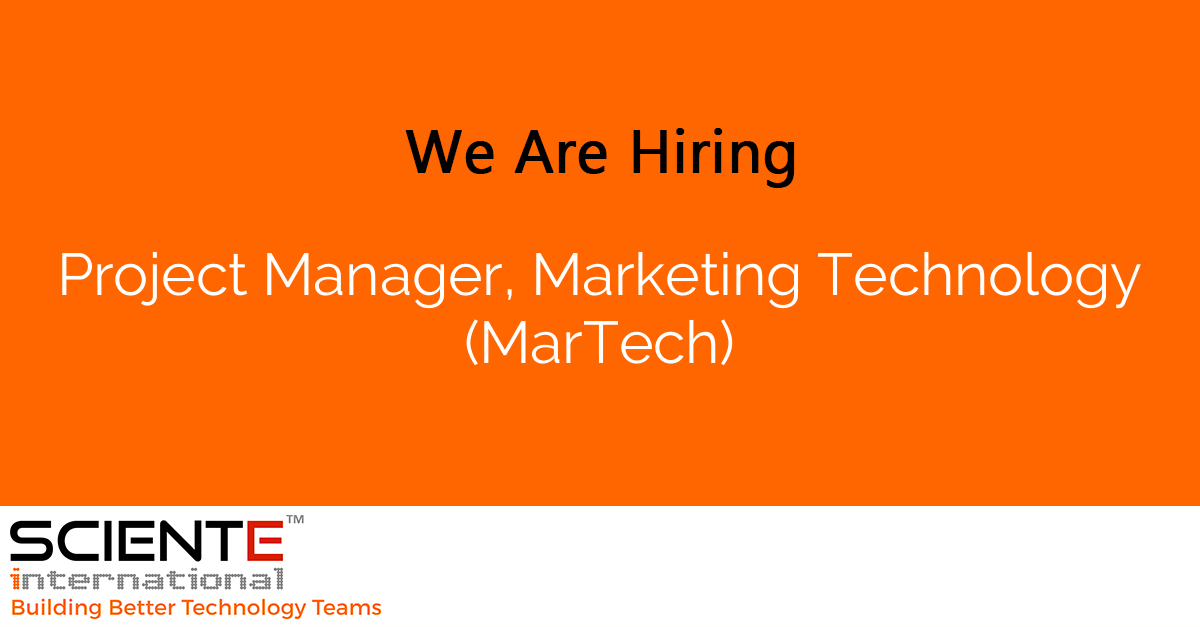 Project Manager, Marketing Technology (MarTech)