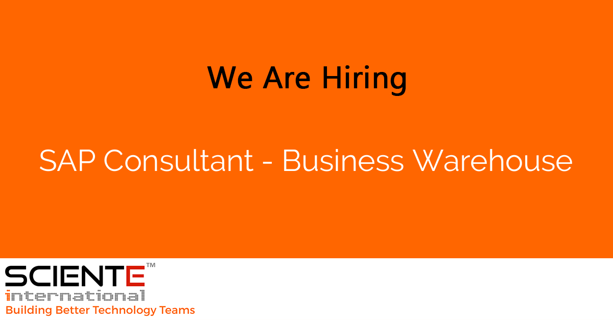 SAP Consultant - Business Warehouse