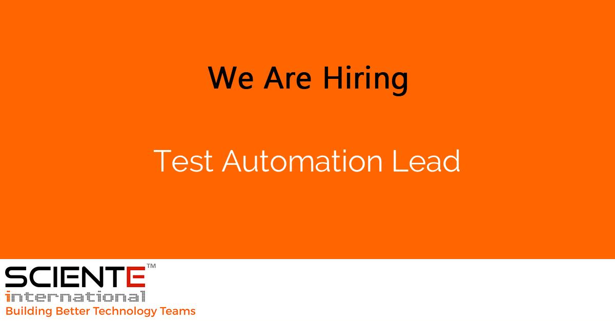 Test Automation Lead