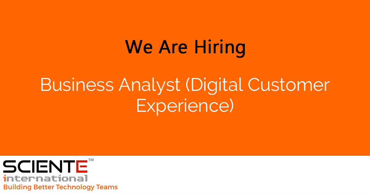 Business Analyst (Digital Customer Experience)
