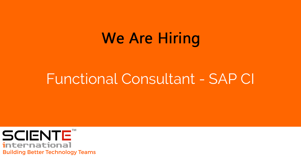 Functional Consultant - SAP CI