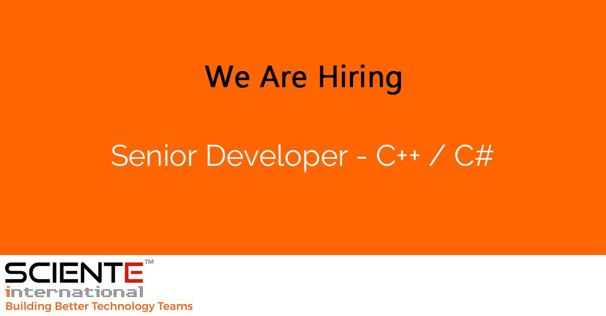 Senior Developer - C++ / C#