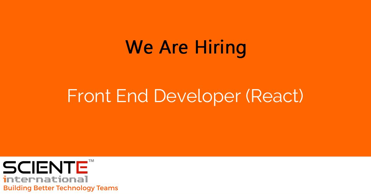 Front End Developer (React)