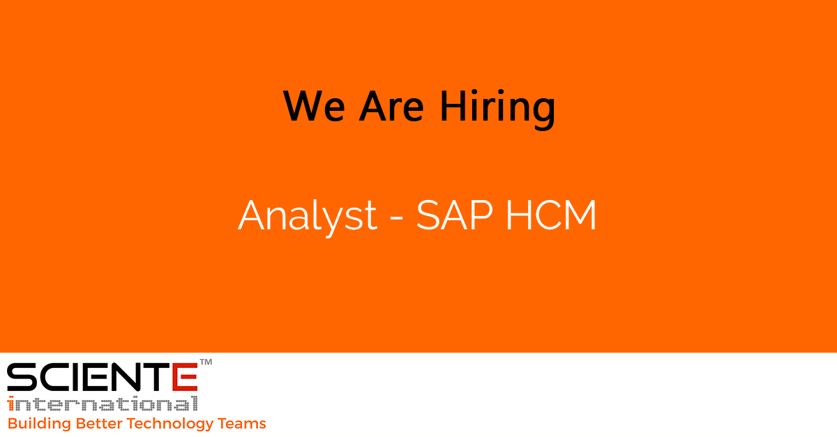 Analyst - SAP HCM