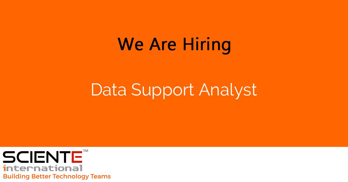 Data Support Analyst