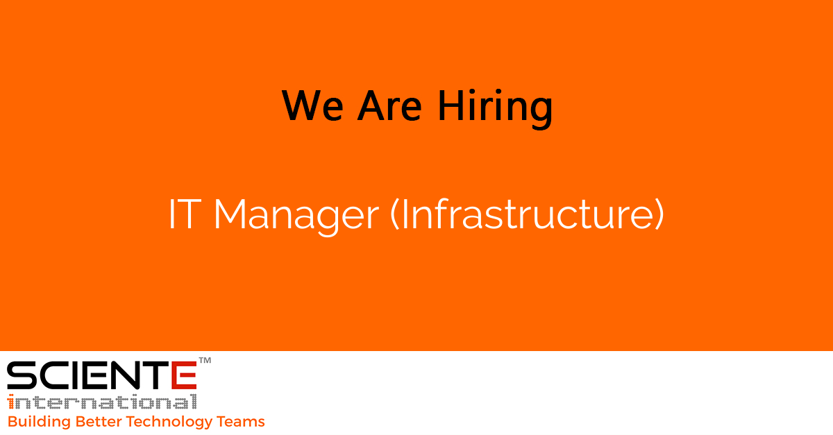 IT Manager (Infrastructure)