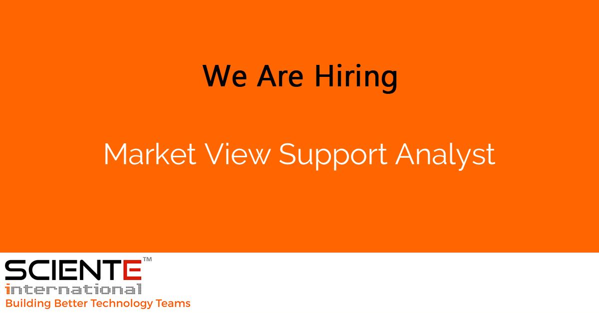 Market View Support Analyst