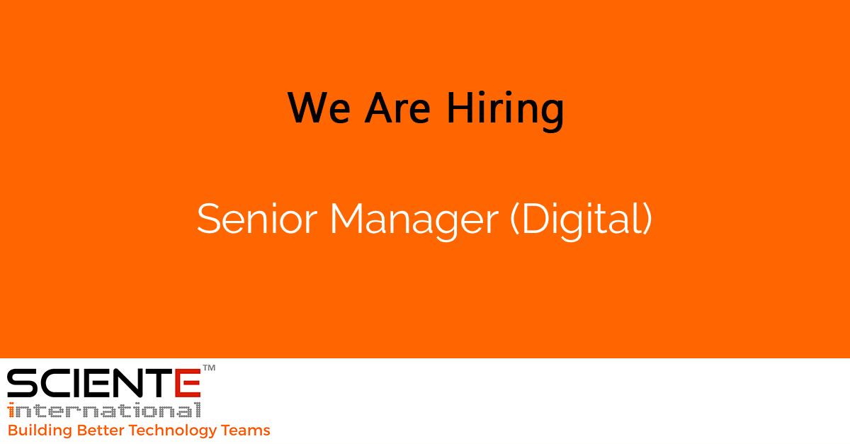 Senior Manager (Digital)