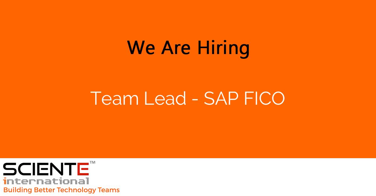 Team Lead - SAP FICO