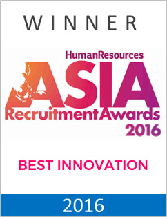 Silver Award Winner – Best Innovation by a Recruitment Agency by Human Resources ASIA Recruitment Awards 2016