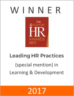 Winner of Special Mention at The Singapore HR Awards 2017 for Leading HR Practices in Learning & Development