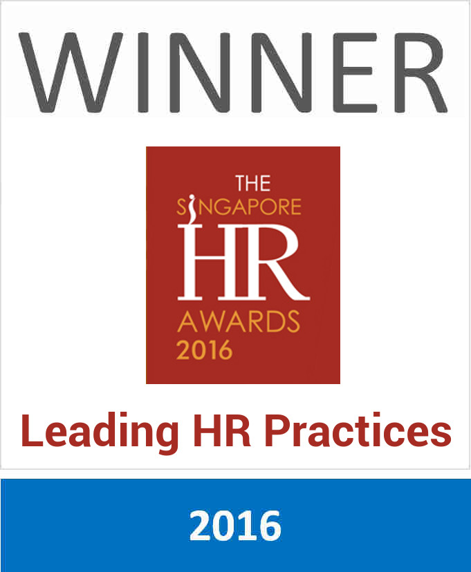 Winner of The Singapore HR Awards 2016 for Leading HR Practices in Corporate Social Responsibility