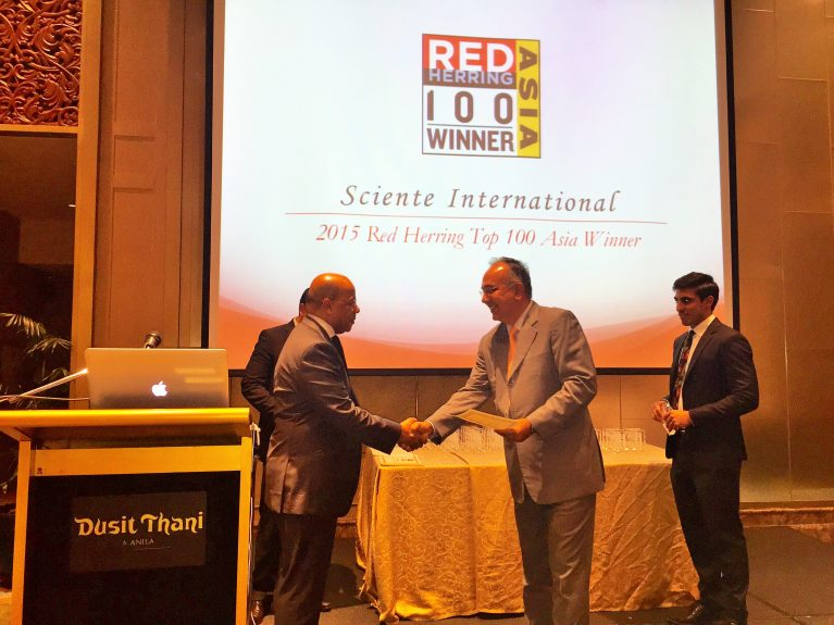 Sciente International selected as a 2015 Red Herring Top 100 Asia