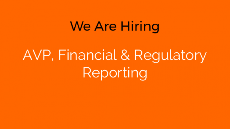 AVP, Financial & Regulatory Reporting