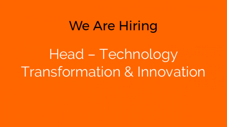 Head – Technology Transformation & Innovation