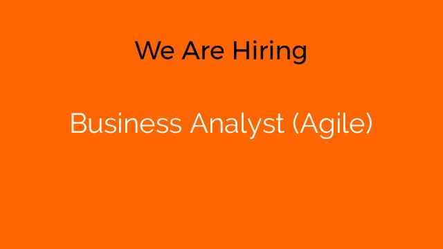 Business Analyst (Agile)